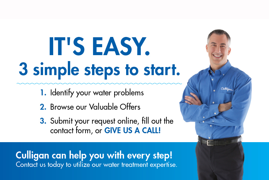 Steps to Contacting Culligan, easy, convenient